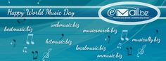 Music is something that Brightens  everyone's mood. So on this World Music Day , Emailbiz wishes you Happy World's Music Day and brings email accounts with music domains for Music lovers !!
