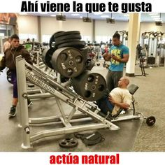 Ahí viene la que te gusta ponele más. #Gym #MiércolesGabán #SrElMatador http://www.srelmatador.com #Foto