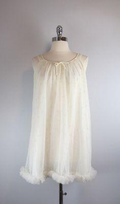vintage babydoll nightgown / vintage slip / by archetypevintage, $45.00