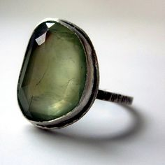 Rose Cut Prehnite ring ||Sarah Westermark