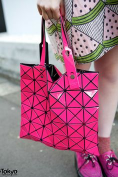420ada7545 I love the pink tooo - Pink Issey Miyake Bao Bao Bag Watermelon Dress