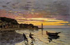 """""""Hauling a Boat Ashore, Honfleur"""" (1864) 