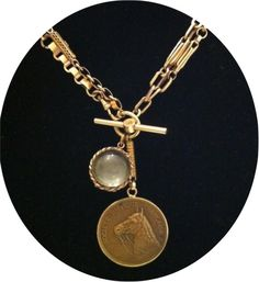 Vintage equestrian jewelry. from Once Again Jewels. I own something very close to this and I wear it all the time.