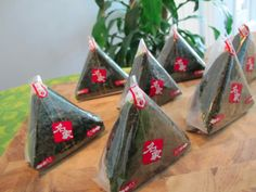 Onigiri - like a Japanese sushi/sandwich made with nori and filled with rice and veggies. On @Food Babe