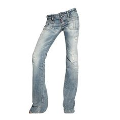 Dsquared Low Waist Flared Washed Jeans ($360) ❤ liked on Polyvore featuring jeans, pants, bottoms, blue, faded blue jeans, low waist jeans, denim jeans, flared denim jeans and blue denim jeans