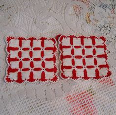 Vintage Hand Crochet Kitchen Hot Pads