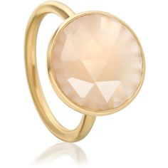 Astley Clarke Colour Symphony Pink Chalcedony Ring ($205) ❤ liked on Polyvore