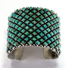 Royston Turquoise Row Cuff by Alice Lister