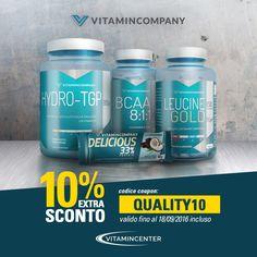 => 10% EXTRA SCONTO su tutti i prodotti VITAMINCOMPANY Codice Coupon => QUALITY10 <= #Nutrizione #Sportiva