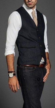New Arrival Designs Black Tweed Men Vest Fashion Slim Fit Waistcoat Custom Made Vests Groom Prom Dinner Waistcoats Terno Colete Urban Fashion, Mens Fashion, Fashion Menswear, Gothic Fashion, Fashion 2016, Steampunk Fashion, Trendy Fashion, Tweed Men, Traje Casual