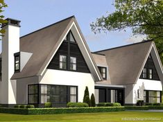 Exterior Home Modern Traditional 50 Ideas Building Design, Building A House, Thatched House, Rustic Outdoor Spaces, Modern Architects, Modern Mansion, Architect House, Modern Traditional, My New Room