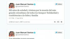 Colombian president on Garcia Marquez's death