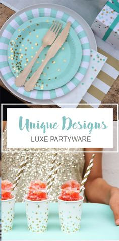 Making unique celebrations easier to throw, Paper Eskimo's high-quality designer partyware gives you more time to do the things you love. Shop this look at Papereskimo.com| Mint party ideas and mint partyware | Unique birthday party | Modern bridal shower.