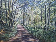 Summer Walk on the Othello Trail 30 x acrylic on canvas Art of Anita Klein Favorite Subject, Othello, Canadian Artists, Vibrant Colors, Trail, Canvas Art, Wildlife, Paintings, Landscape