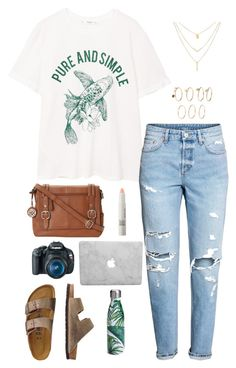 """Untitled #44"" by cannjoy on Polyvore featuring MANGO, TravelSmith, Eos, S'well and Make"
