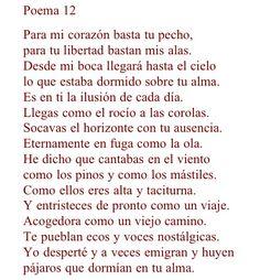 20 Poemas de Amor - Pablo Neruda. Belleza de la palabras.