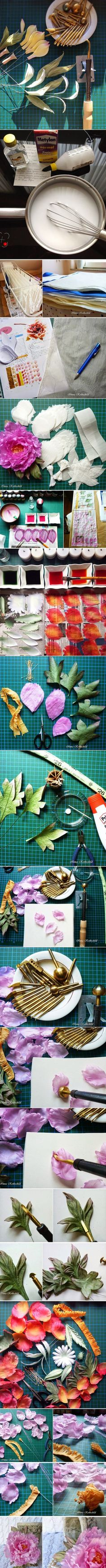 How to make a silk flower by Inna Rothschild