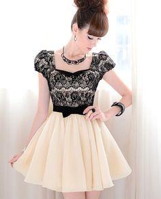 Vestidos Petticoat - Plisado Plaza cuello de encaje vestido de fiesta - hecho a mano por PixyLeg en DaWanda