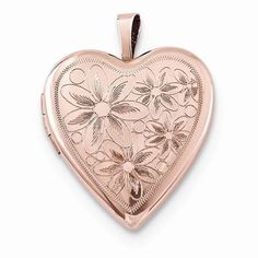 NEW-ROSE-GOLD-OVER-925-STERLING-SILVER-HEART-DAISIES-80-LOCKET-3-3g-PINK-20MM