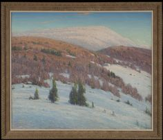 """""""Blue Mountain,"""" Gustave Adolf Wiegand, 1914, oil on canvas, 41 x 48"""", Adirondack Museum."""