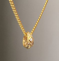 Necklace - Golden Diamond Roundel by Roman Paul #romanpaul