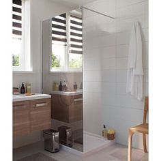Paroi de douche Free miroir 100 cm Alcove, Divider, Bathtub, Vanity, Shower, Bathroom, Wall, Inspiration, Furniture