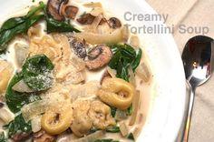 Creamy Tortellini-Spinach Soup