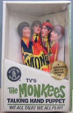 MATTEL: 1966 Monkees Talking Hand Puppet #Vintage #Toys
