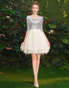 Rochie alba cu maneci din paiete argintii Graduation, Dresses, Fashion, Vestidos, Moda, Fashion Styles, Moving On, Dress, Fashion Illustrations