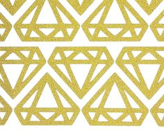 40 Glitter no shed gold diamond stickers for by munchgifts on Etsy