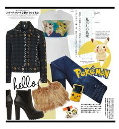 """Hello Pokemon!!!"" by hamaly ❤ liked on Polyvore featuring A.W.A.K.E., rag & bone, Steve Madden, Prada, Topshop, ootd, fur and DenimStyle"