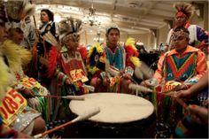 Drum.  Pow Wow~Native American Drummers!  Every Mother's Day we go to a Pow-Wow.  The first time I heard the drums I cried and felt such a connection, very powerful.  I play Native Amer. drums