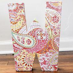 DIY Paper Mache Letter