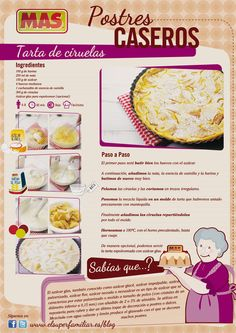 Receta de tarta de ciruelas