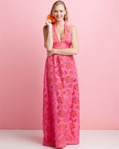 Lilly Pulitzer Viola Eyelet Hotty Pink Maxi Dress on ruelala.com