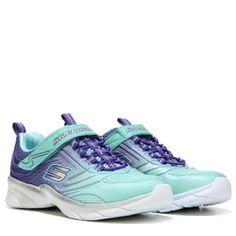 0761d3de979b Skechers Swirly Girl Shine Vibe Sneaker Pre Grade School Aqua Blue Skechers