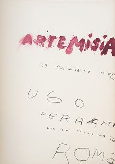 Cy Twombly - Artemisia print (1980)