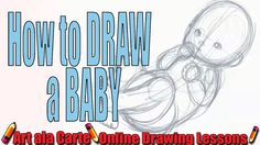 Drawing cute little BABIES: a basic baby form Cap Drawing, Form Drawing, Pastel Portraits, Baby Portraits, Drawing Lessons, Drawing Techniques, Cute Little Baby, Little Babies, Cute Baby Drawings