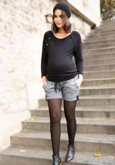 CORNELIA - Pantalones cortos premamá - Envie de Fraise
