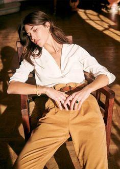 Sézane - Florence Shirt Florence, Bodies, Jean Parfait, Rose Shop, Black Camel, 20s Fashion, Fashion Capsule, Parisian Chic, Spring Summer