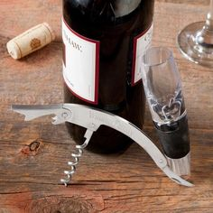 Wine aerator + engraved cork screw set for the gentlemen who love sipping on a nice bottle of vino.