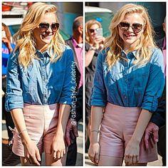 #ChloeMoretz #davidbeckham#denimjacket #brooklynbeckham #sweet #victoriabeckham #fashiondesigner #shades #jeans #hat #fashion #style #celebrity #look #lookbook #beautiful #gorgeous #trend #trendy #chic #ootd #kyliejenner #instafashion #instastyle #stylish #accessories #heels #shoes #model #supermodel... - Celebrity Fashion