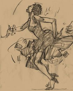 Harlem Swing Dance Studies von Martin French, via Behance - Swing Drawing Sketches, Art Drawings, Drawing Ideas, Musik Illustration, Dancing Drawings, Dance Paintings, Jazz Art, Swing Dancing, Dance Art