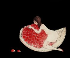 Juxtapoz Magazine - Displaying items by tag: gallery Illustrations, Illustration Art, Pomegranate Art, Arte Floral, Art World, Japanese Art, Les Oeuvres, Cute Art, Contemporary Art
