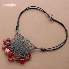 karneoliusz2; Jamajka - Polish wire artist; love her weaving