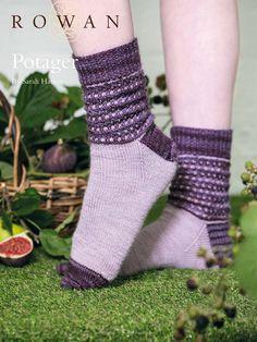 Potager Socks by Sarah Hatton in Rowan Fine Art: http://www.mcadirect.com/shop/rowan-fine-art-100g-hank-p-5571.html