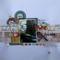 Layout by Gina with the April 2013 kits from Citrus Twist.