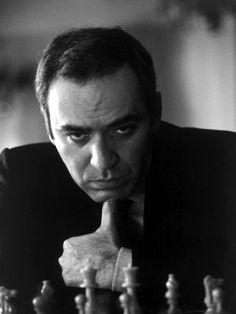 Gary Kasparov.sheer genius.