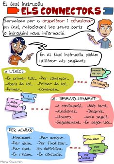 PEDAÇ: Text instructiu: els connectors Spanish Teaching Resources, Spanish Language Learning, Teaching Tools, Catalan Language, All About Me Worksheet, Preschool Education, Classroom Games, Project Based Learning, It Cast