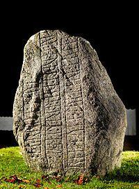 Bække stone 1 (900-950), rune stone from Denmark. Found in Bække, 1810. Viking Age.